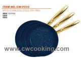 3pcs Ss poêle à frire Set Revêtement Non-Stick Juego de Utensilios de Cocina 3PCS SS
