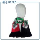 Подгонянный логос клуба напечатал шарф футбола футбольной команды связанный вентилятором