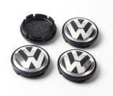 casquillos negros del centro de rueda del cromo de 56m m para VW Volkswagen 1j0601171