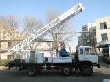de 350m vrachtwagen-Opgezette die Installatie van de Boring van de Put van het Water in China wordt gemaakt
