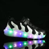 De nieuwe Schoenen van de Jonge geitjes van de Schoenen van de Rol van de Schoenen van Heelys van de Manier van de Stijl met LEIDEN Licht