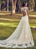 袖なしの花嫁衣装の人魚のレースはウェディングドレスMz499に玉を付ける