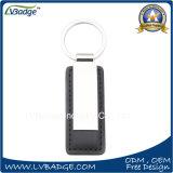 Metal Keychain del espacio en blanco del regalo de la promoción con insignia de la aduana del laser