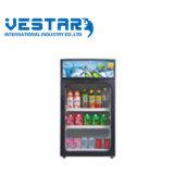 Refrigerador del escaparate de la visualización mini con la sola puerta de cristal