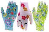 13G Polyester avec jardin enrobés de nitrile gants de sécurité au travail