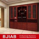 Governo di alluminio del vino del teck dell'oggetto d'antiquariato del metallo della mobilia rossa della casa