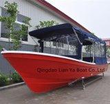 Шлюпка Panga рыбацкой лодки кабины стеклоткани Liya 7.6m