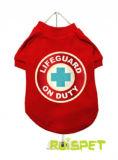 Chien Liftguard T shirt rouge Vêtements pet