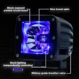 La luz de niebla teledirigida del punto de las vainas de la resplandor del RGB LED de las luces IP68 de la parte posterior de la atmósfera de las luces de conducción del camino LED impermeabiliza la lámpara del trabajo del jeep SUV ATV
