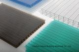 Feuille de plastique de Sun de PC de feuille de cavité de polycarbonate de Quatre-Mur