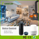Do projector branco morno controlado do diodo emissor de luz do assistente/Smartphone ampola esperta do diodo emissor de luz de WiFi White+Cold RGBW GU10 de Alexa/Google
