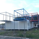 贅沢な品質20FTの生きている容器の家、販売のための在宅勤務事務所の容器