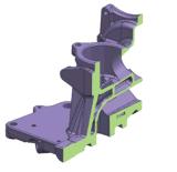 10枚のスライド(機械6油圧+4)が付いているアルミ鋳造型