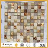 Mosaico di vetro delle mattonelle della parete della cucina per spruzzata posteriore