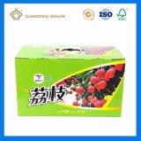 Cadre ondulé de empaquetage personnalisé de carton d'impression de fruit rigide polychrome de litchi