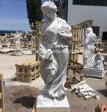 Il marmo di bianco cinese ha intagliato il Godness delle quattro statue di stagioni