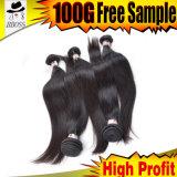 Enroulements desserrés de long cheveu de Vierge de qualité, longues restaurations de cheveu
