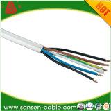 Fio flexível forte isolado PVC Sheathed do núcleo 1.5mm de Rvv 3 da tensão