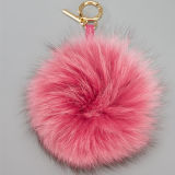 Fiocchetto variopinto della pelliccia di Fox della sfera POM Keychain della pelliccia della decorazione di cerimonie nuziali