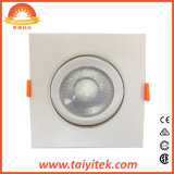 Square foco LED de alimentación 240V Adaptador Downlight de techo