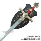 Vasto re medioevale Solomon Sword di Swordgold con piastra 123cm