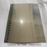 中国の工場木製の穀物は304の0.8 mmのステンレス鋼シートを浮彫りにした