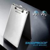 支配銀製カラー金属クリップが付いているA5アルミニウムクリップボード