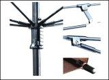 Большой размер вручную откройте пластмассовую ручку для записи двухслойных зонтик с Купер наконечника сопла