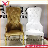 Gold/белый высокие любви сиденья стул для проведения свадеб и ресторан отеля Банкетный зал