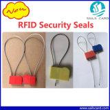 Tag azul do selo do fio de aço RFID de cor vermelha para o recipiente