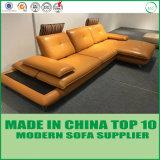 イタリアの現代居間の家具の革ソファー