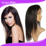 최신 Sale100% 인간적인 Virgin 머리 똑바른 작풍 페루 머리 가득 차있는 레이스 가발