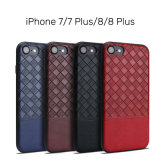 Сплетенная крышка кожаный случая PU картины тонкая на iPhone x 8 добавочное
