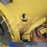 HF flanschte FEP/PTFE/PFA volles Iined Stecker-Ventil mit dem bedienten Hebel