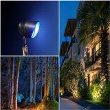 Pouvoir et lumière réglable de jardin de l'angle de faisceau IP65 RGBW