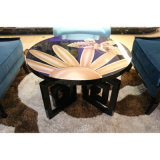 星のホテルの公共領域の木のロビーの茶コーヒーテーブル(KL C04)