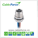 Cable connecteur moulé rectangle femelle de M8 5pin pour l'automatisation d'usine avec la conformité de la CE