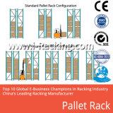 Le système de stockage neuf d'entrepôt rayonne la crémaillère de métaux lourds de palette
