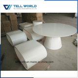 Acrylsaueroberflächenkonferenztisch des Luxus-8 weißer fester runder der Personen-1.6m