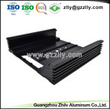 ISO9001 de zwarte Gesneden Bijlage van het Aluminium voor de Versterker van de Auto