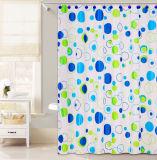 Tricolor занавес ливня конструкции PEVA круга для ванной комнаты