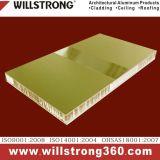 32 mm Épaisseur aluminium Panneau alvéolé Architectural Panneaux de signalisation de plafond de la canopée des Façades Façades Ventilées