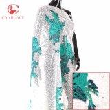 高品質のウェディングドレスのためのアフリカのナイジェリアテュルのレースファブリックピンクのテュルのレースファブリック