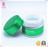 Envase poner crema que blanquea de aluminio verde claro