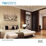 Panneau de mur sain couvert de tissu décoratif intérieur d'épreuve de fibre de polyester pour l'hôtel