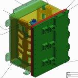 Boîtier en aluminium de terminaison de communication par soudage et assemblage