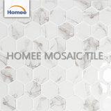 Hexagon Backsplash deckt weiße Mosaik-Fliese-Küche für Wand-Dekoration mit Ziegeln