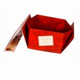 Rectángulo de lujo plegable de la ropa del regalo que empaqueta con la cinta