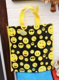 薄板にされたEmojiのショッピング・バッグのショルダー・バッグの戦闘状況表示板のEmojiのアイコン非編まれた袋