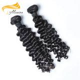 Extensions noires brésiliennes de cheveu de Remy de prix usine d'OEM